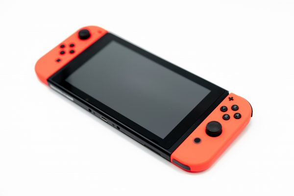 Nintendo Switch Console with Red JoyCons